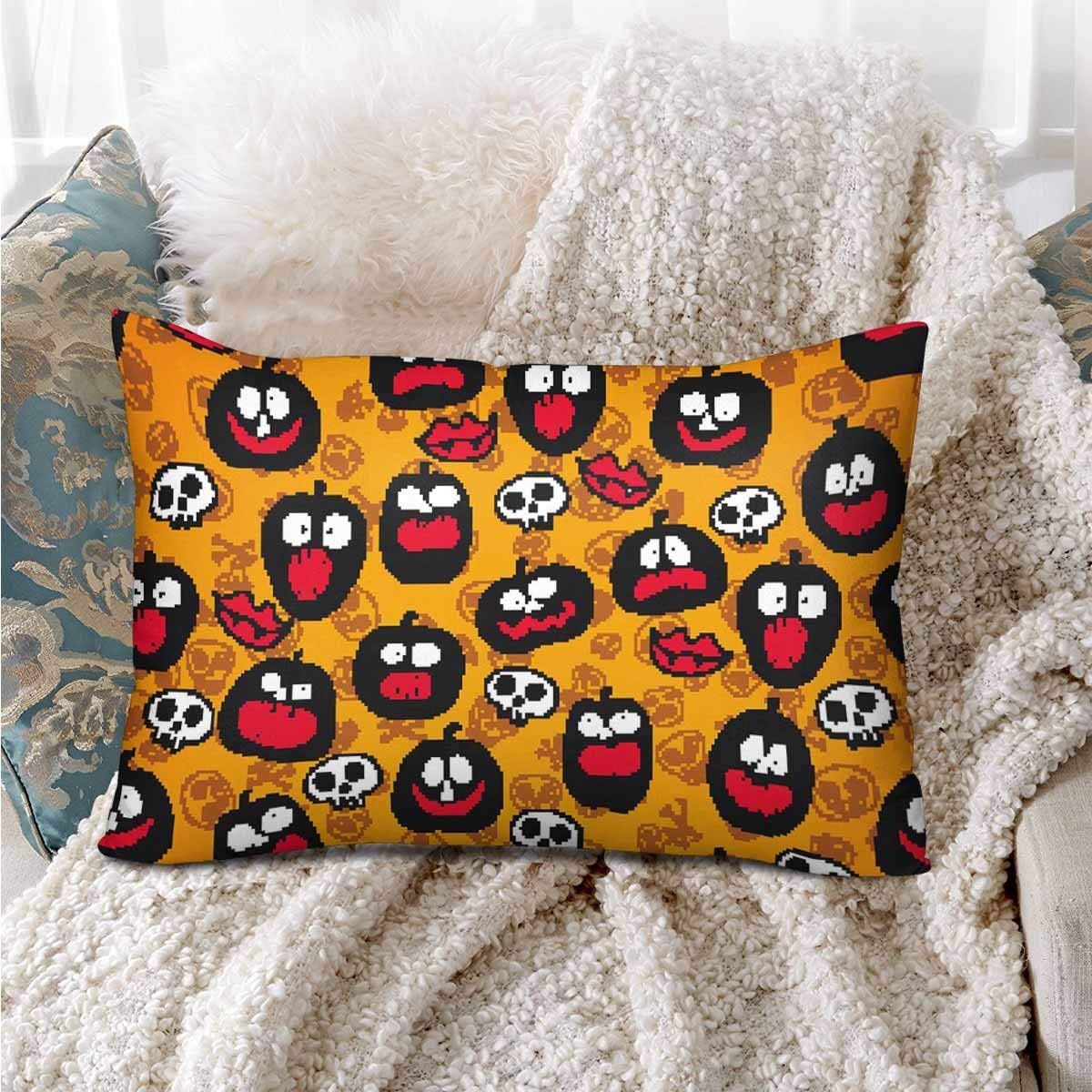 GCKG Halloween Seamless Bright Kids Doodle Pattern Pillow Cases Pillowcase 20x30 inches - image 1 de 4