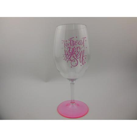 VALENTINE -WAL-MART 560mL Wine Glass with - Pink Wine