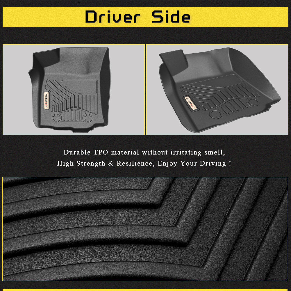 Floor Mats for 2016-2017 Toyota Tacoma Double Cab with Automatic  Transmission, 1st & 2nd Row Toyota Floor Liners (NO Manual Transmission, No  Access Cab) ...