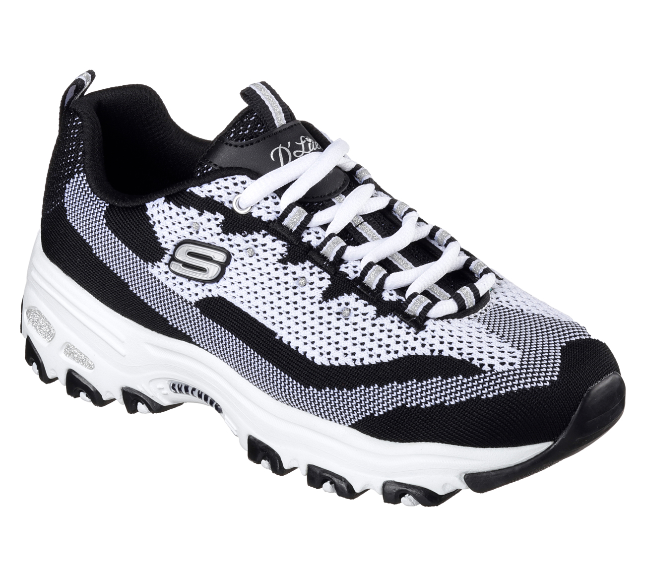 Skechers 11955 BKW Women's D'LITES-REINVENTION Walking by Skechers