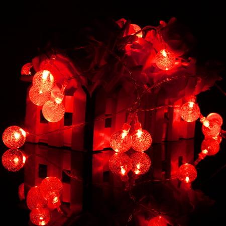 3M 20 LED Crystal Ball Fairy String Light Christmas Garden Garland  - image 4 of 5