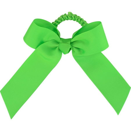 Soffe Emc Sports Girl Team Bow Scrunch Neon Green