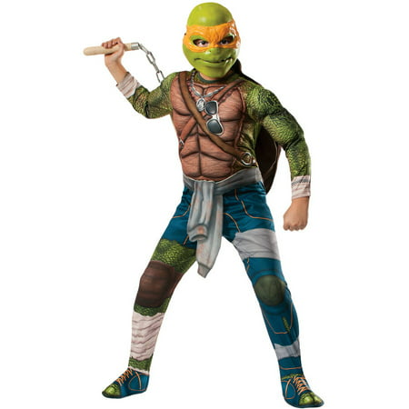 Teenage Mutant Ninja Turtles Michelangelo Boys Child Halloween Costume](Easy Halloween Makeup Tutorial For Boys)