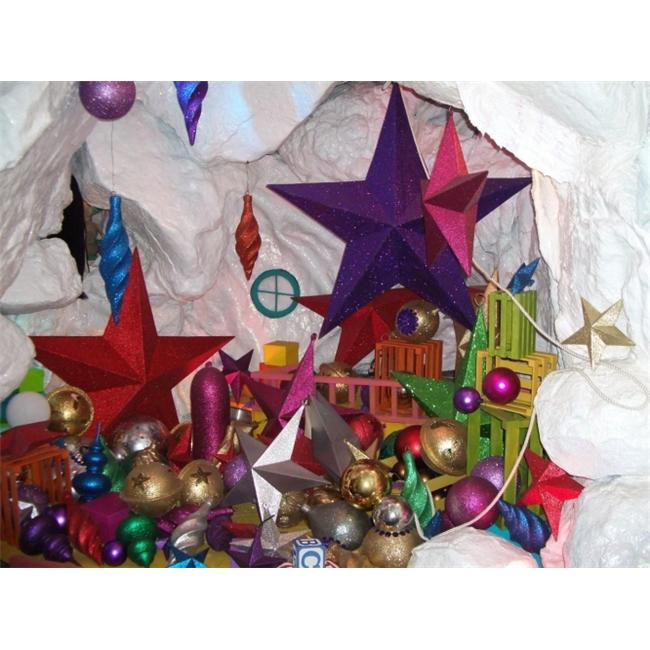 Barrango - 10 Inch Glitter Star Oversized Ornament