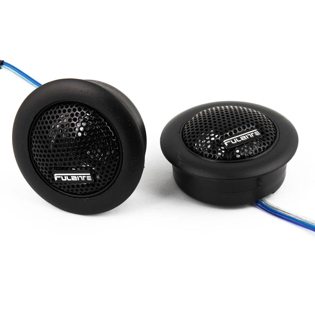 60mm Diameter Dome Car Stereo Tweeter Magent Speakers Horn Black 2 Pcs
