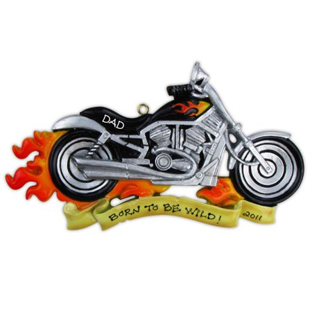 Harley Davidson Motor Bike Road Rage Motorcycle Personalize It Yourself Christmas Tree Ornament
