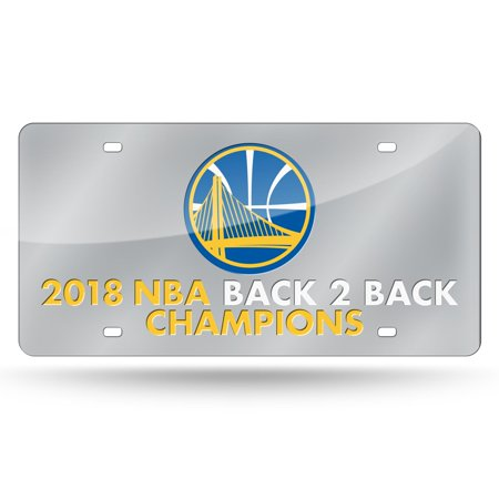 National Champions License Plate - Golden State Warriors Official NBA 2018 National Champions License Plate Mirror by Rico 387400