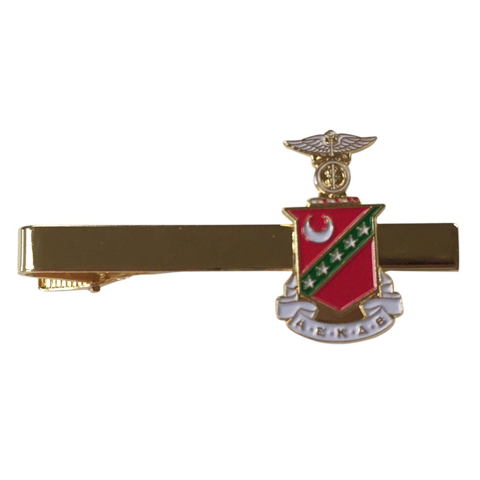 Kappa Sigma Gold Color Crest Tie Bar/Clip - Brand New