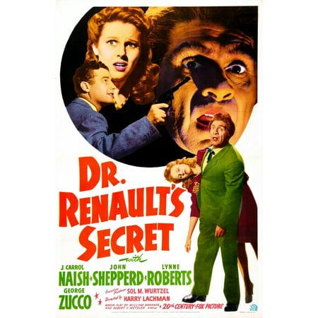 Dr Renaults Secret Us Poster John Shepperd Lynne Roberts J Carrol Naish 1942  20Th Century Fox Film Corporation Tm   Copyrightcourtesy Everett Collection Movie Poster Masterprint