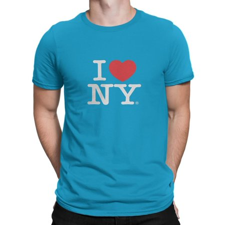 I Love NY - I Love NY New York Short Sleeve Screen Print Heart T-Shirt  Turquoise Xl - Walmart.com c1d42d83397