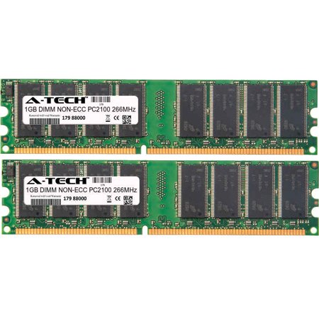- 2GB Kit 2x 1GB Modules PC2100 266MHz NON-ECC DDR DIMM Desktop 184-pin Memory Ram