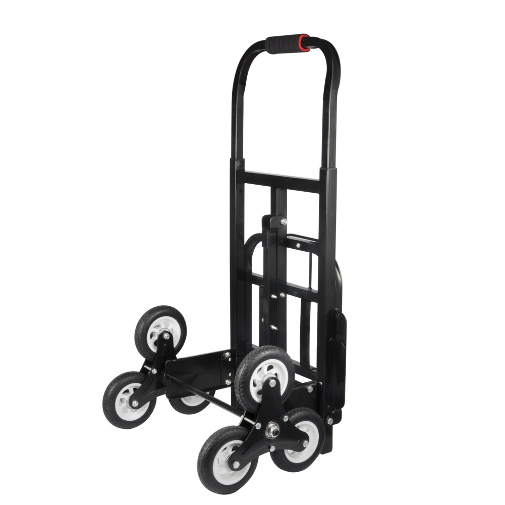 Portable Stair Climber Hand Truck, SOLID RUBBER TIRES-440LBS Barrow Hand Truck Bracket... by