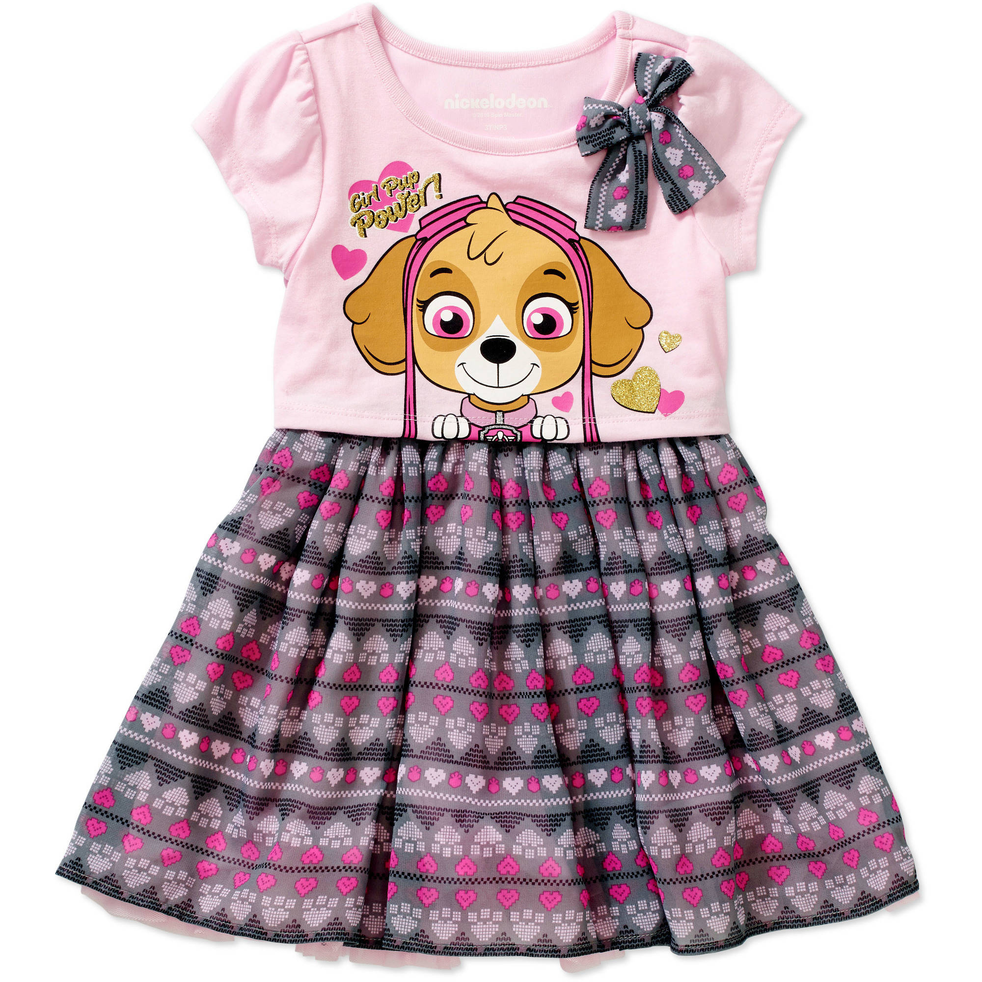 Nickelodeon Paw Patrol Toddler Girl 2-Fer Dress
