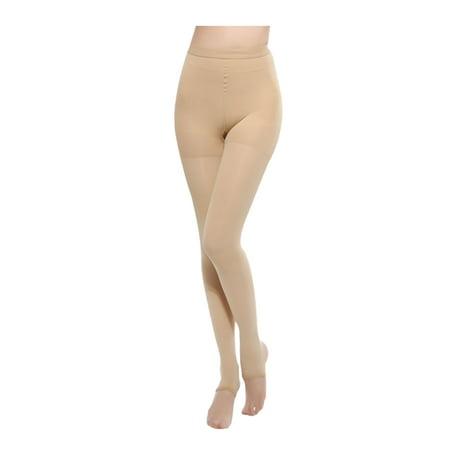 Women Push Up Slimming Pantyhose Tights Thick Stirrup Leggings Beige XL - image 3 of 6