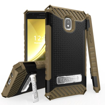 Beyond Cell Case Compatible with Samsung Galaxy J3 Orbit, Military Grade Drop Tested [MIL-STD 810G-516.6] Kickstand Cover Case and Atom Cloth for J3 Orbit - Black / - Grade Cell