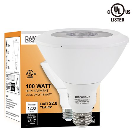 18W Dimmable Par38 Led Light Bulb  Energy Star Ul Listed Cob Spotlight  100W Halogen Equivalent  5000K Daylight 1200Lm For Stage  Scene  Event  Residential  Commercial  General Lighting