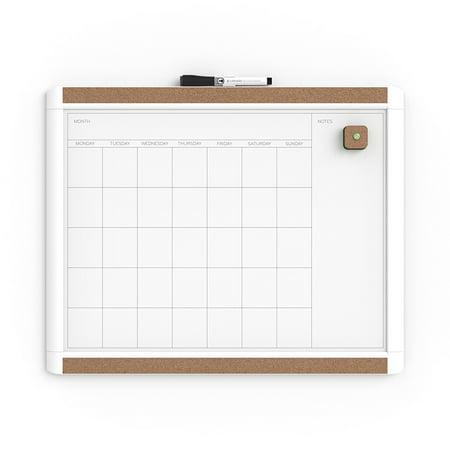 U Brands Pin-It Magnetic Dry Erase Calendar Board (Dry Erase Calender)