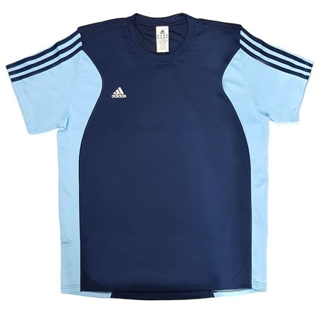 Adidas AD P43303 XL Mens S/S Tee AD P43303, Navy/Light Blue, (X-Large)