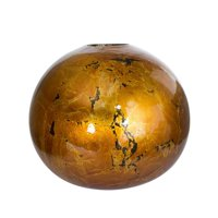 HomeRoots 354452 9 x 9 x 8 in. Copper Ceramic Foiled & Lacquered Spherical Table Vase