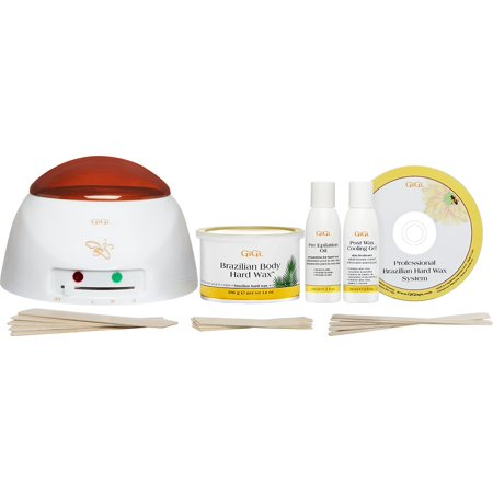 Gigi Microwave Sensitive Tweezeless Wax - Gigi Brazilian Waxing Kit