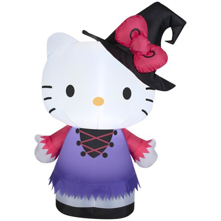 3' Hello Kitty in Witch Costume Halloween Inflatable for $<!---->