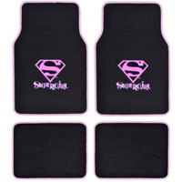 Supergirl Floor Mats for Car, 4-Piece, Universal Fit, Looney Tunes Cartoon Design Auto Accessories