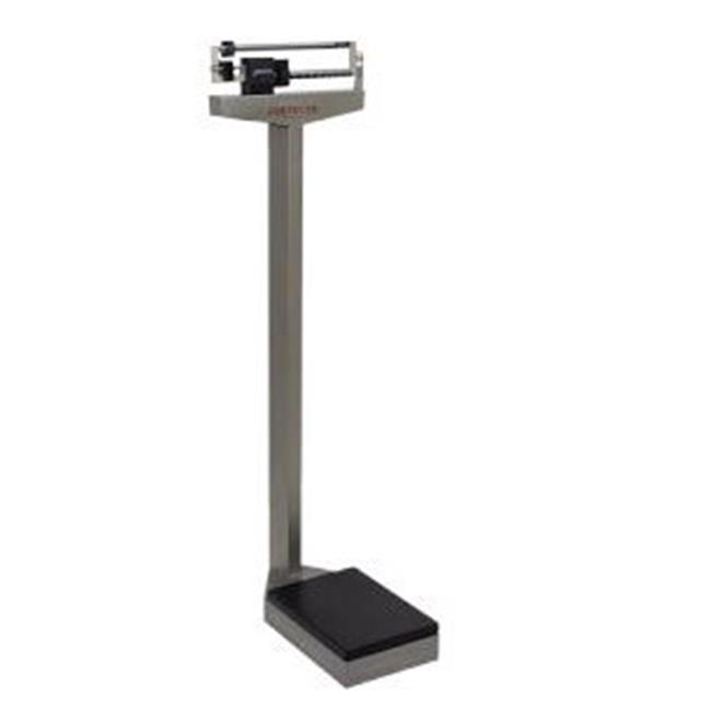 Cardinal Scale-Detecto 439S 10. 5 inch X 14. 5 inch Platform Eye Level Physician Scale Stainless Steel 400 Lb X 4 Oz with