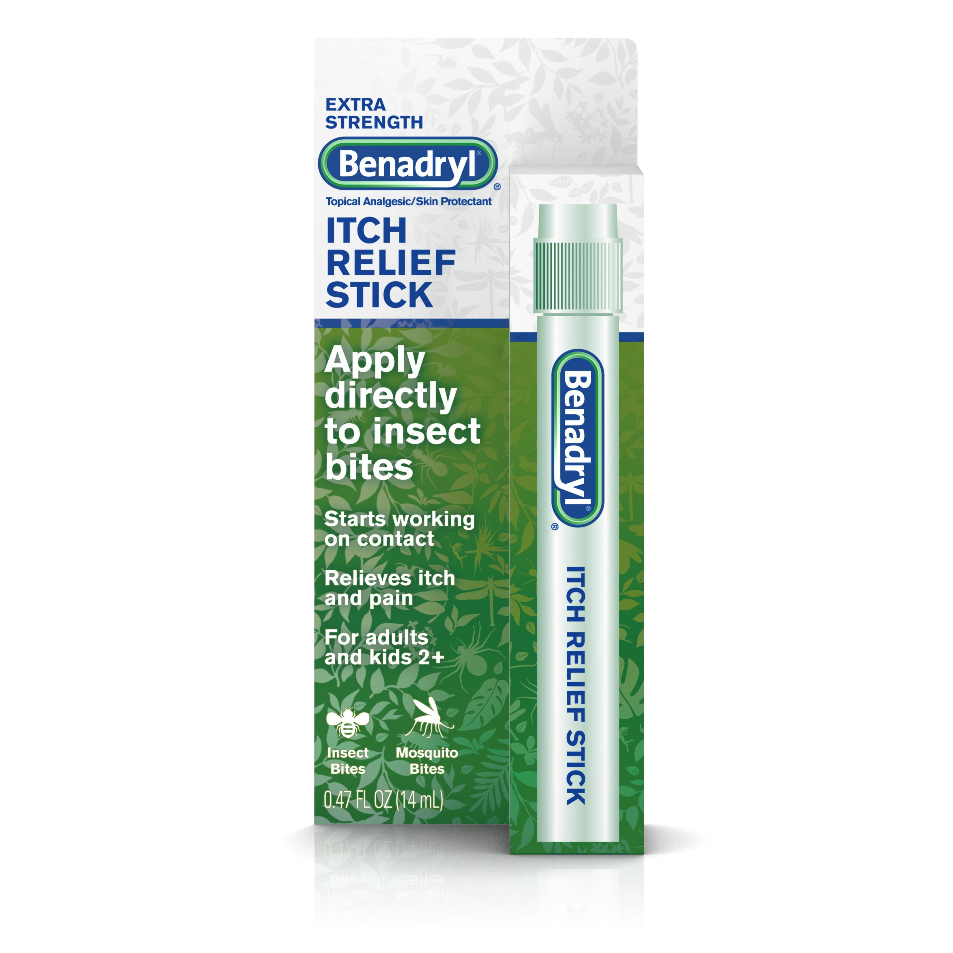 Benadryl Extra Strength Itch Relief Stick, Travel Size,.47 fl. oz
