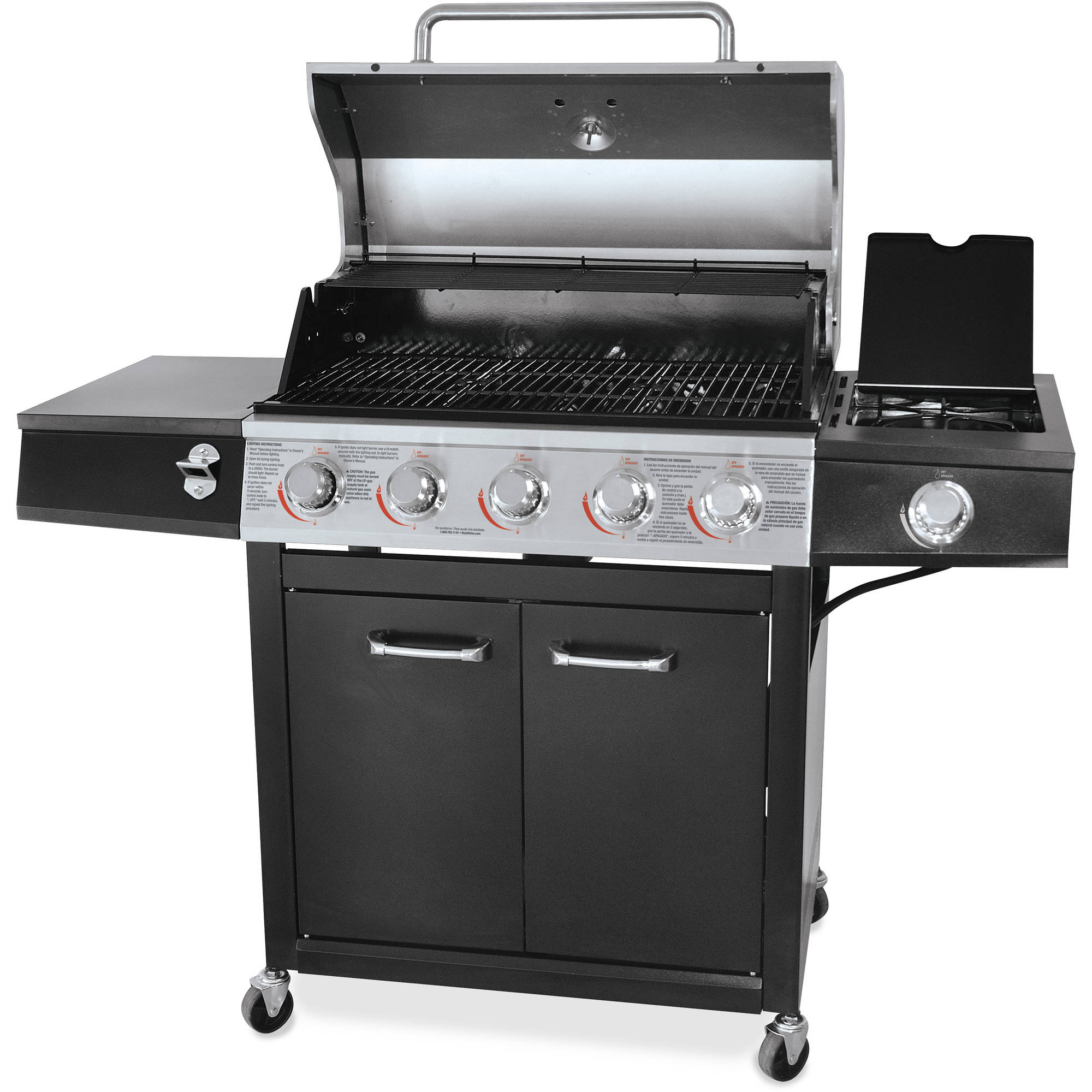 backyard grill 72 000 btu 5 burner gas grill stainless steel