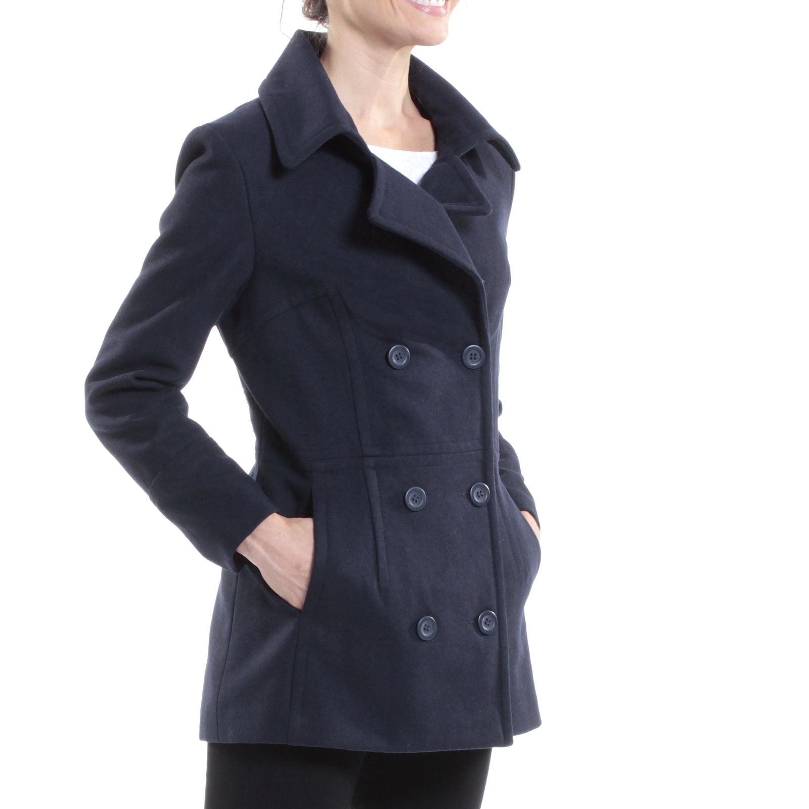 Alpine Swiss Emma Womens Peacoat Jacket Wool Blazer Double ...
