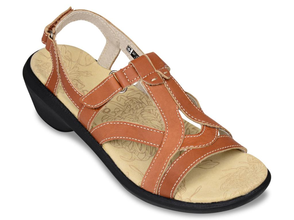 Spenco Women's Charlotte Women's Spenco Dress/Casual Sandals - Camel 8c1357