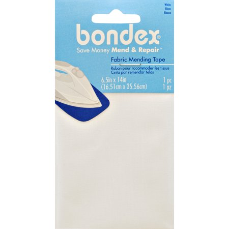 "Bondex Iron-On Mending Fabric 6.5""X14""-White"