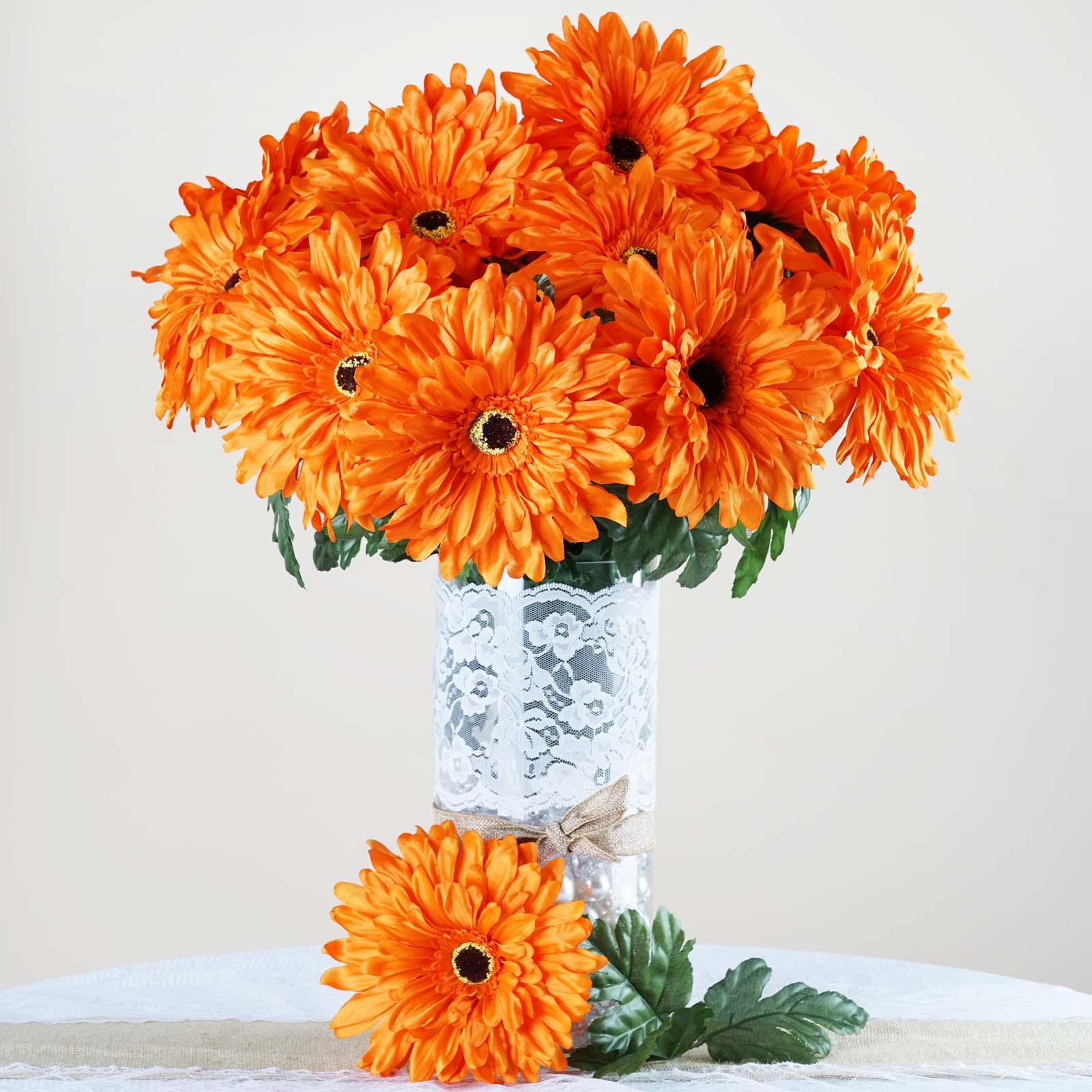BalsaCircle 28 Silk Gerbera Daisy Wedding Flowers - DIY Home Wedding Party Artificial Bouquets Arrangements Centerpieces
