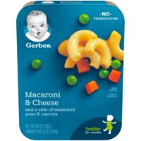 Gerber Lil Entrees Macaroni and Cheese with Seasoned Peas & Carrots 6.6 oz Tray