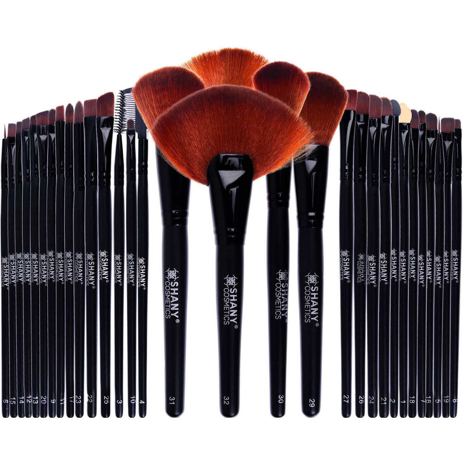 SHANY Professional Makeup Brush Comprehensive Set with Leather-Look Pouch (32 Count)