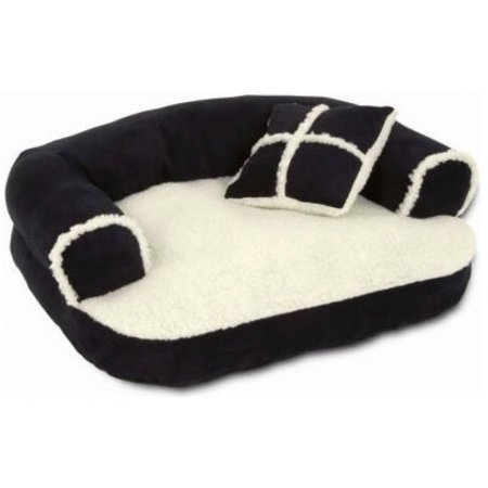 Aspen Pet Sofa Pet Bed with Pillow, Assorted Colors, 20u0022L x 16u0022W