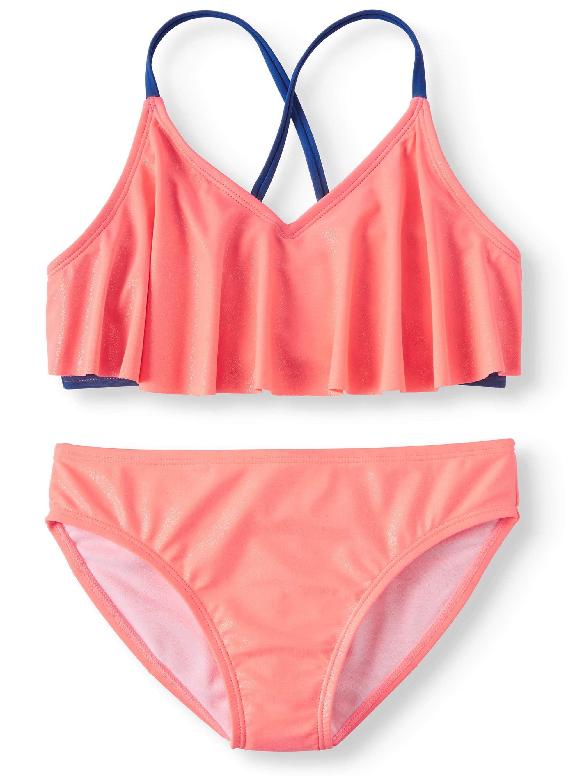 Rivstar Girls Big Beach Please Tankini Swim Set 2pc