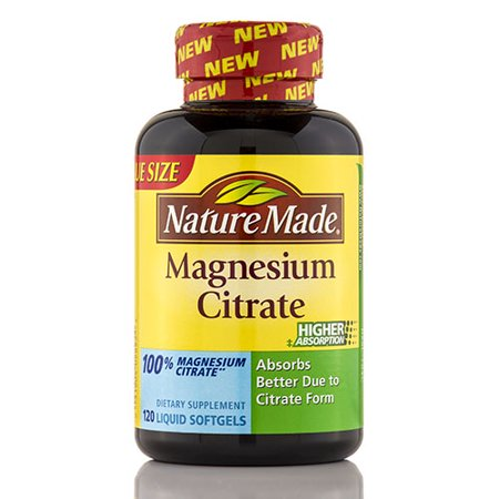Nature Made Magnesium Citrate  Mg Softgels