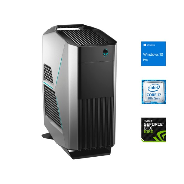 Alienware Aurora R8 Gaming Desktop, Intel 6-Core i7-8700 Upto 4.6GHz, 16GB RAM, 256GB NVMe SSD + 1TB HDD, NVIDIA GeForce GTX 1080 8GB GDDR5, HDMI, DisplayPort, DVI, Wi-Fi, Bluetooth, Windows 10 Pro