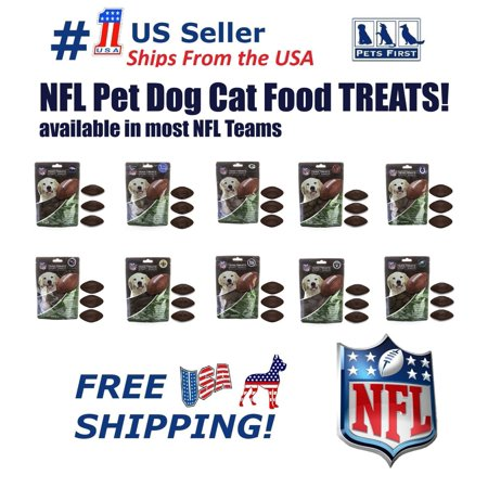 Pets First NFL New York Giants Dog Treats, Delicious Football Shaped Cookies Dog Rewards NATURAL Dental Pet