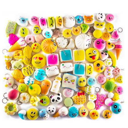 30Pcs Squishy Toy set, Outgeek Cute Scented Slow Rising Squishy Phone Chain Squishy Chain Slow Rising Stress Reliever Soft Squishy Toy Stress Relief Toys for Phone Decor - Squishy Stores