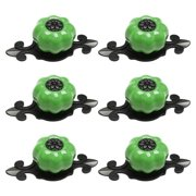 Uxcell Ceramic Knobs Pull Handle for Drawer Cupboard Wardrobe Dresser Door Green Pumpkin 6Pcs,High-gloss