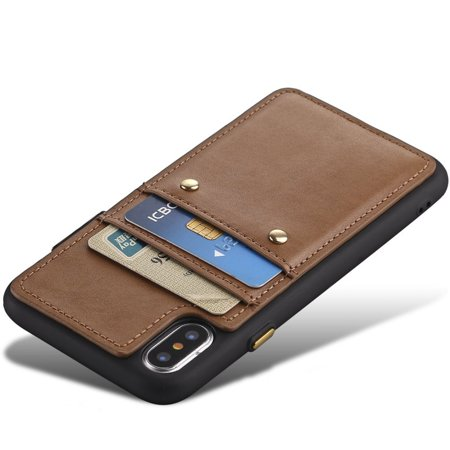 new product 6dee5 c3a48 iPhone X Card Case [Support Wireless Charging] , iPhone X Wallet ...