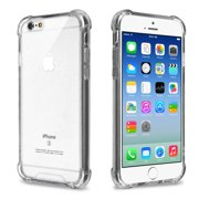 Apple iPhone 6 / 6S Phone Case Clear Shockproof Hybrid Bumper Gummy Rubber Silicone Gel Shock Absorption Cover Highly Transparent Clear Phone Case Cover for Apple iPhone 6S, iPhone 6