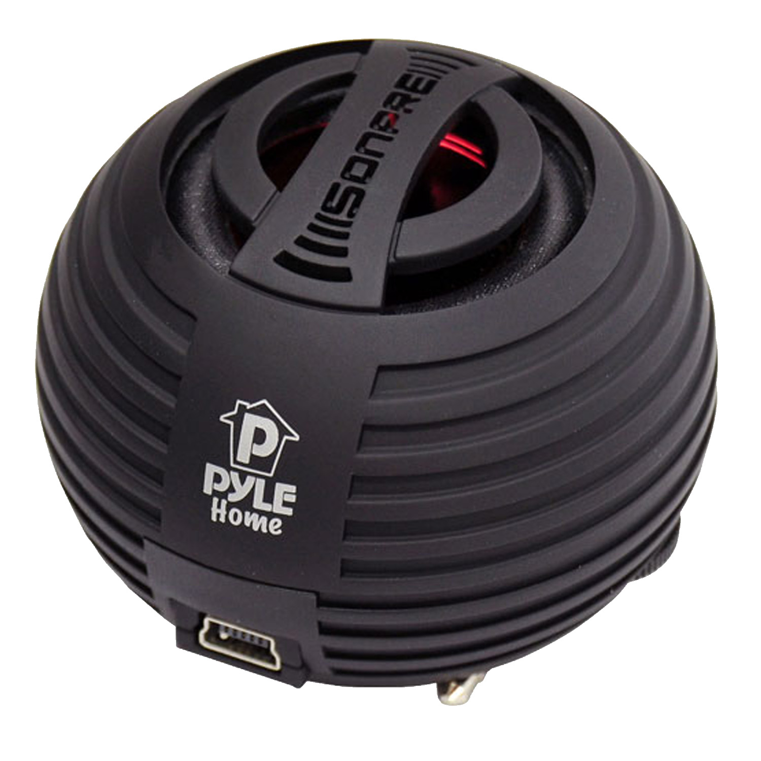 Brand X Pyle Bass Expanding Chainable Mini Speakers For iOS / MP3 / Computer (Black)