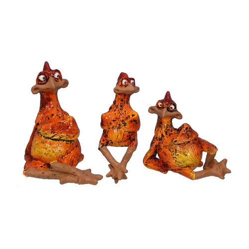 Fantastic Craft 6'' Assorted Rooster x 3 piece