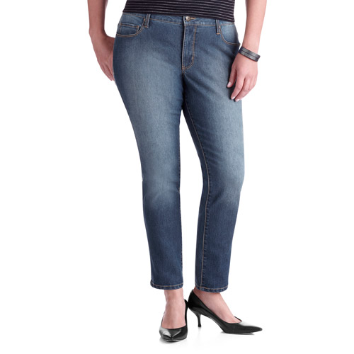 Faded Glory Women's Plus-Size Slim Straight Leg Jeans