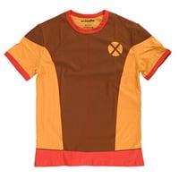 Marvel X-Men I Am Retro Wolverine Mens Brown Shirt | XL