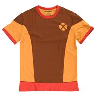 Marvel X-Men I Am Retro Wolverine Mens Brown Shirt | S