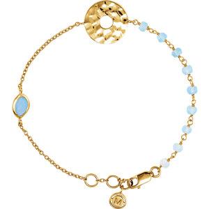 "18K Vermeil Blue Chalcedony 7.5"" Bracelet by"
